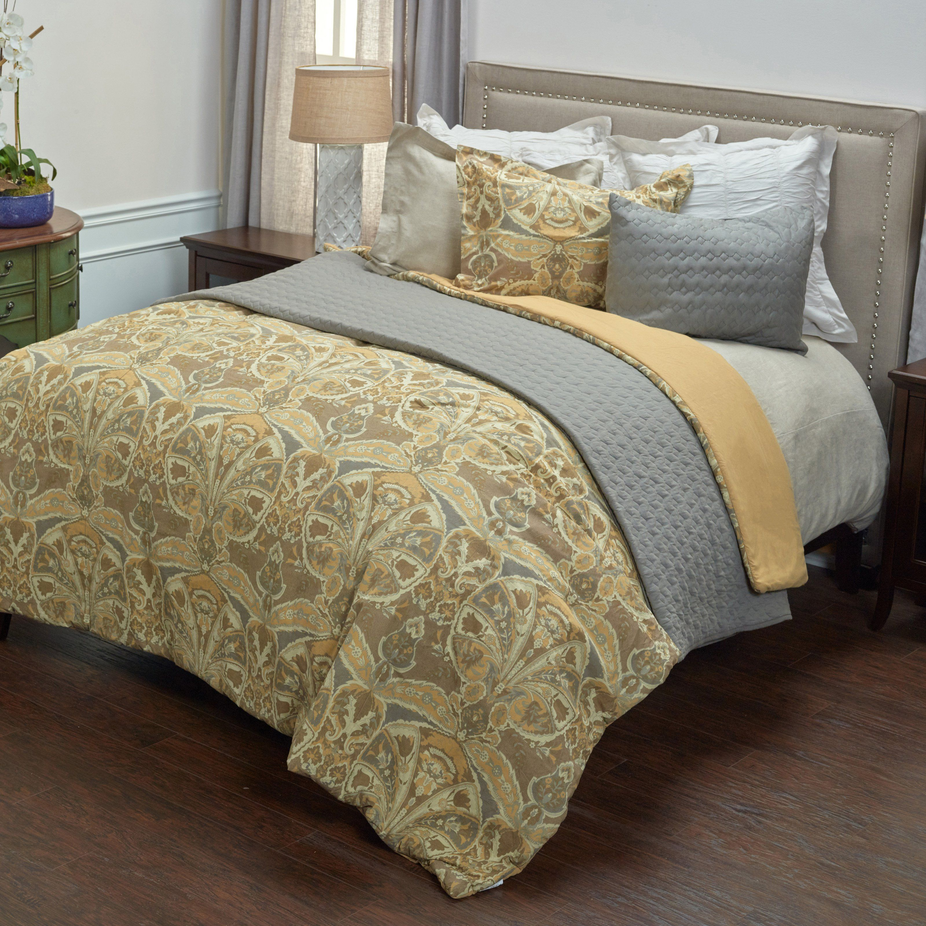 Rosmond Heights 3 Piece Bedding Set by Rizzy Home - CFSBT1807GLGY1692