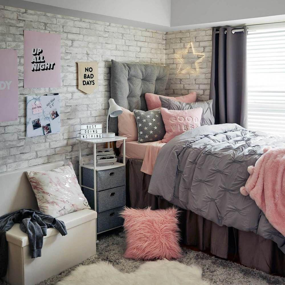 White Brick Removable Wallpaper College Dorm Room Decor College Bedroom Decor Dorm Room Decor