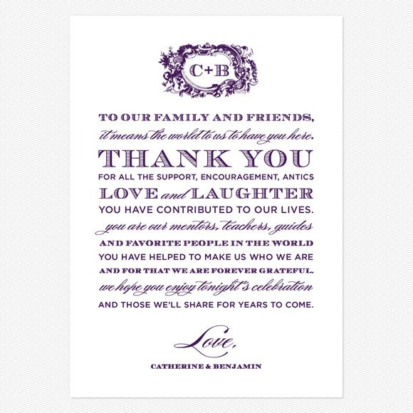 Wedding Thank You Examples Style And Grace Thank You Message Cards