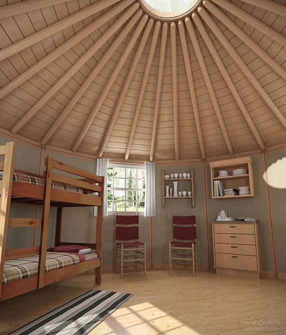 Freedom Yurt Cabins   Interior   Photos / Video : Tinyhouseblog   July 18,  2015
