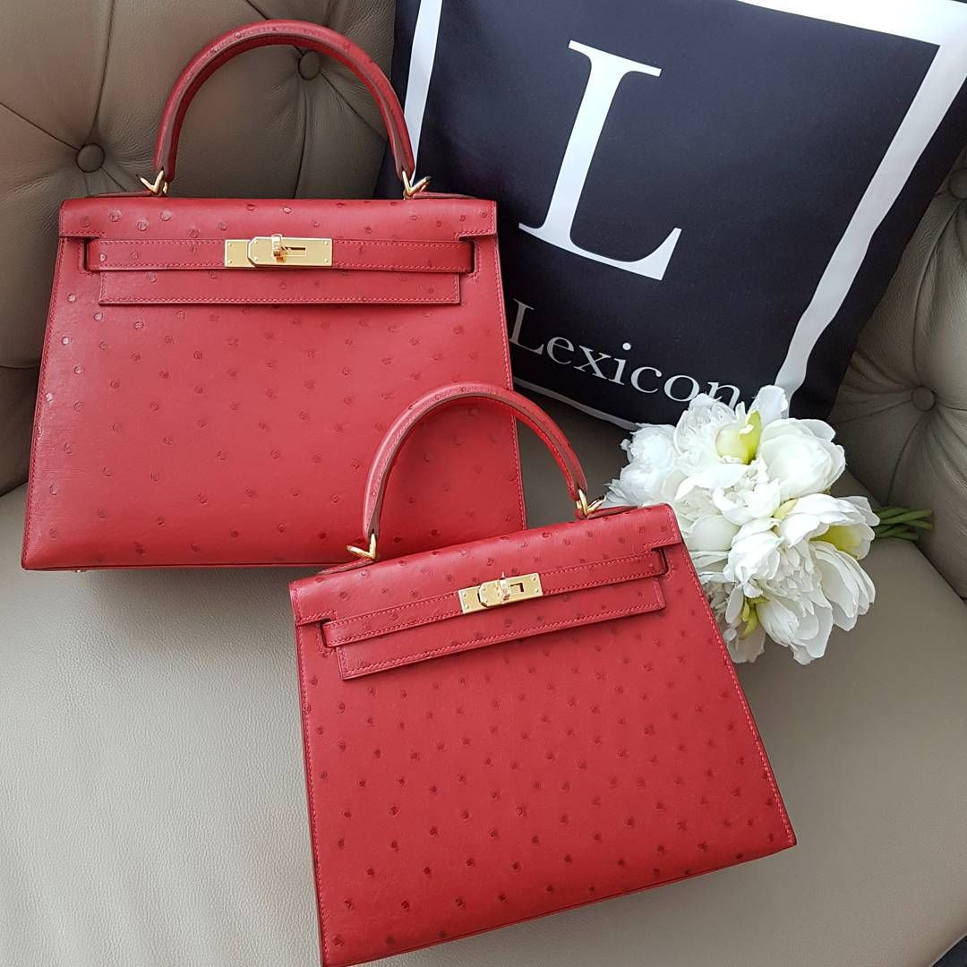 ee657c501cb2 Hermes Rouge Vif Ostrich Constance Mini 1819 Handbag fancy