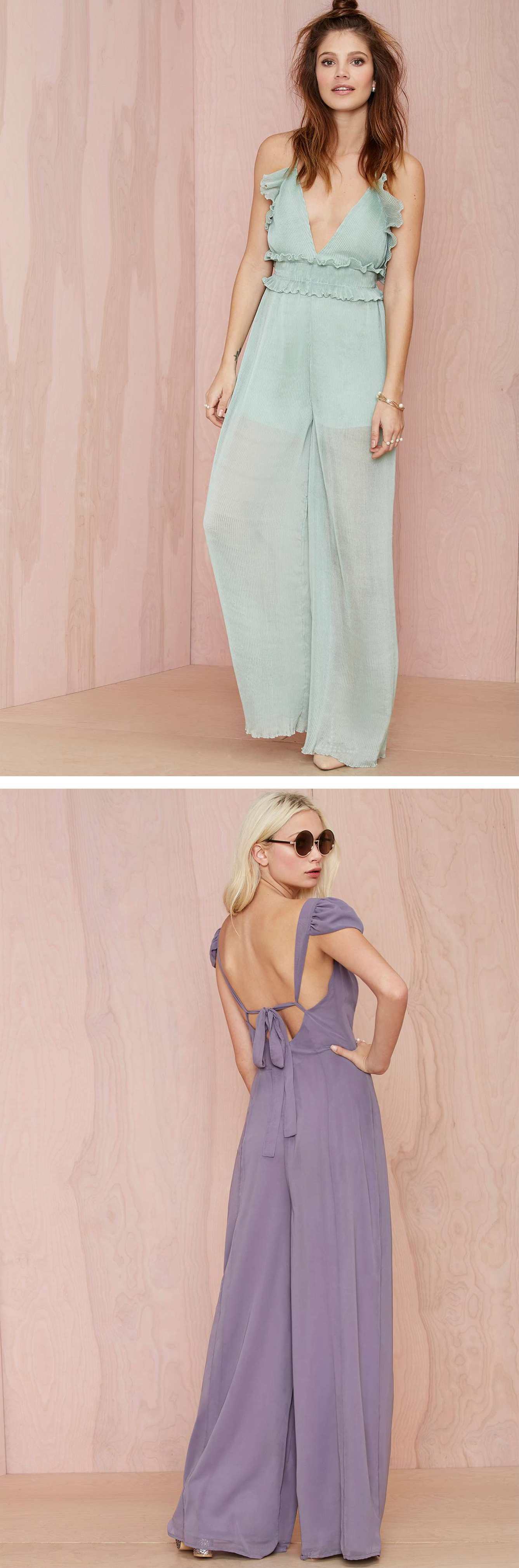 Sweeten up your look with perfectly ruffled jumpsuits.