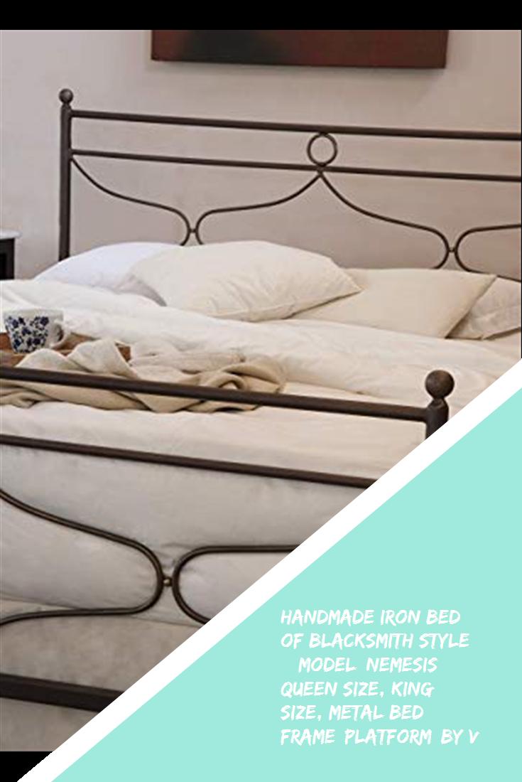 Handmade Iron Bed Of Blacksmith Style Model Nemesis Queen Size