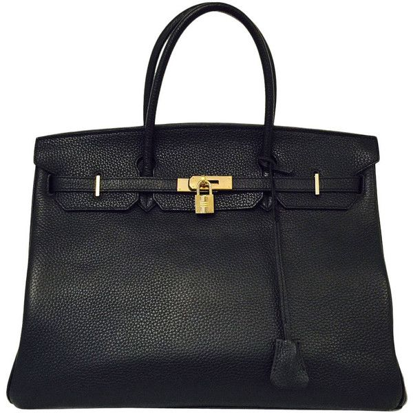 492bf9490a3d Pre-owned 2010 Hermès Black Birkin Togo 40 With Gold Hardware ( 19