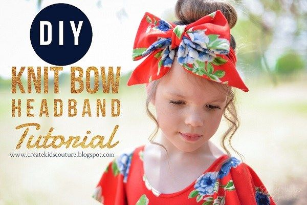Sewing pattern: Knit fabric bow headband