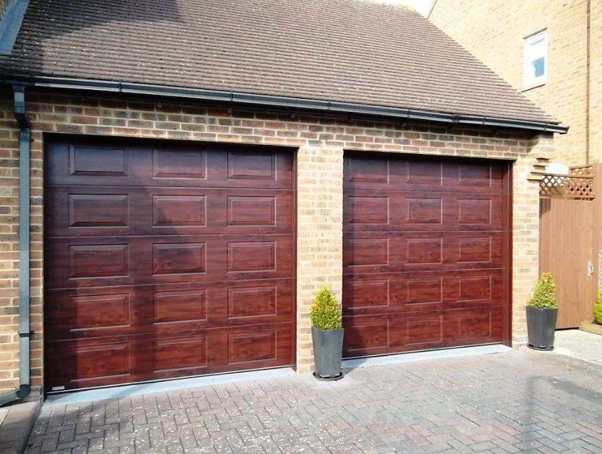 Garage Door Ideas Barn Style Wood Metal Mid Century Modern Pintu Garasi Pintu Garasi