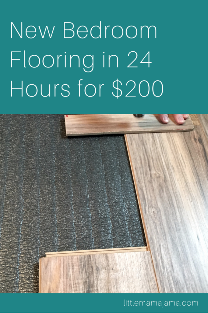 How To Install New Bedroom Flooring In 24 Hours For 200