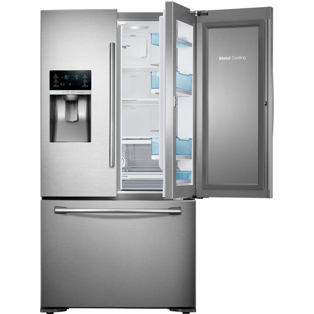 Samsung 22 5 Cu Ft Food Showcase French Door Refrigerator