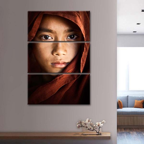 Young Monk Portrait Multi Panel Canvas Wall Art In 2020 Multi Panel Canvas Multi Panel Wall Art Art