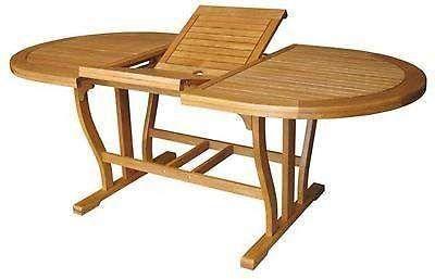 Tavoli In Legno Da Giardino Allungabili.Tavolo Ovale Da Giardino In Legno Allungabile 150 200 X 90 Cm
