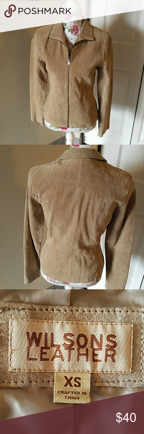 Wilson leather suede style jacket (With images) Suede