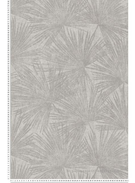 Papier peint jungle Feuilles Palmes grège - Savana de Lutèce en 2020 | Papier peint jungle ...