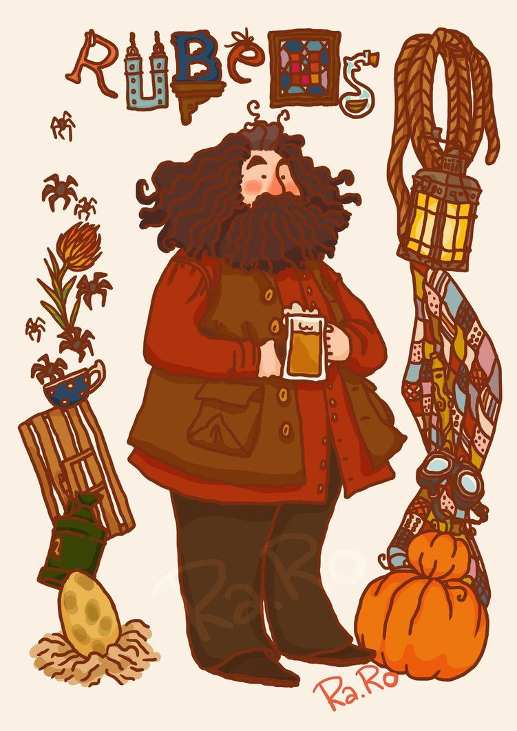 Hagrid by raro81 on deviantart harrypotter fanart the boy who lived harry potter harry - Harry potter dessin ...