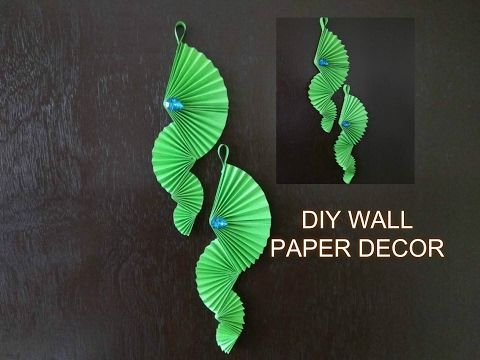 DIY wall hanging Craft Ideas using colour paper   Decorating Ideas ...