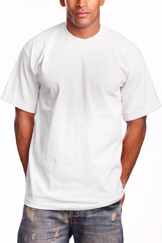 Pro 5 Plain T Shirt Super Heavyweight Plain Short Sleeve Tee Variety Of Colors Available Plain White T Shirt Mens Shirts T Shirt