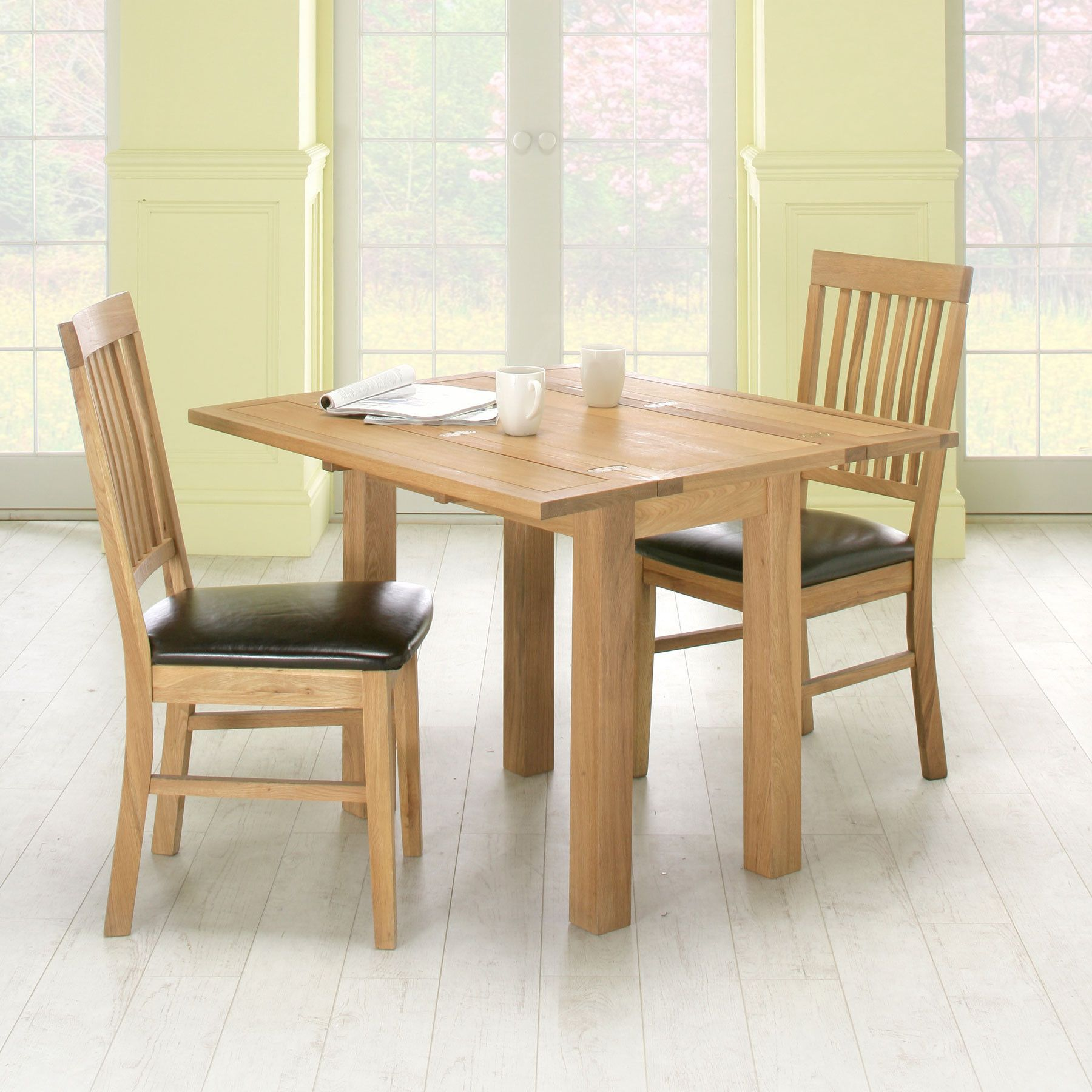 Conran Oiled Oak Fold Up Dining Table And 2 Chairs  Kintyre New 2 Chair Dining Room Set Review