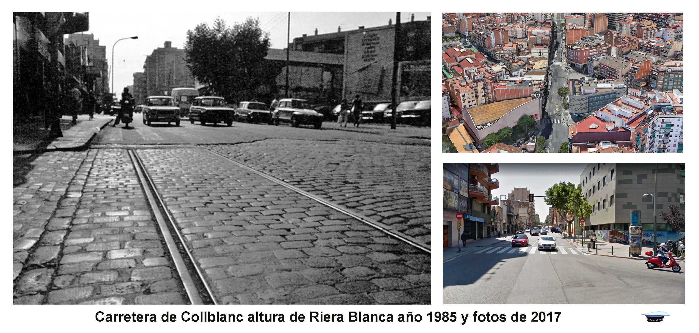 Carretera De Collblanc Altura De Riera Blanca Año 1985 Y Fotos De 2017 Fotos De 2017 Fotos Barcelona