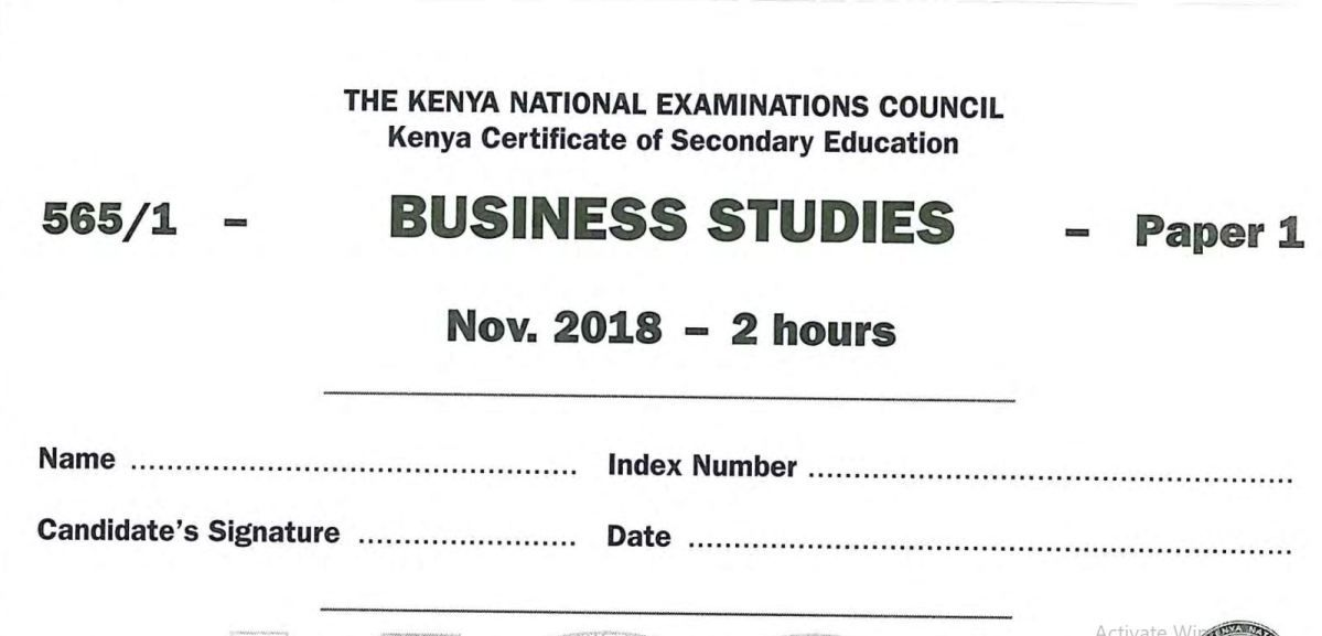 KNEC KCSE 2018 Computer Studies Paper 1&2 Combined with