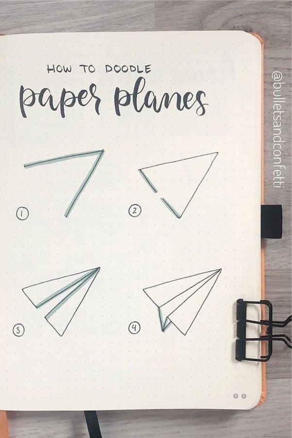 25+ Best Paper Plane Bullet Journal Spreads For 20