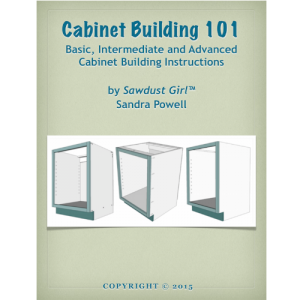 Cabinet Building 101 EBook Saw Dust Girl.com