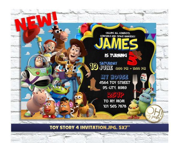 TOY STORY 4 INVITATIONtoy Story Invitations Toy Party