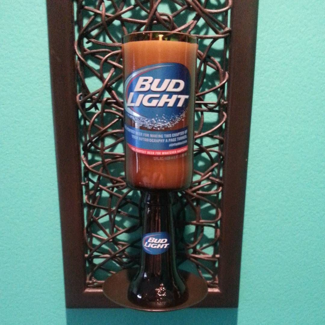 #budlight #beer #bottle #candle #shopetsy
