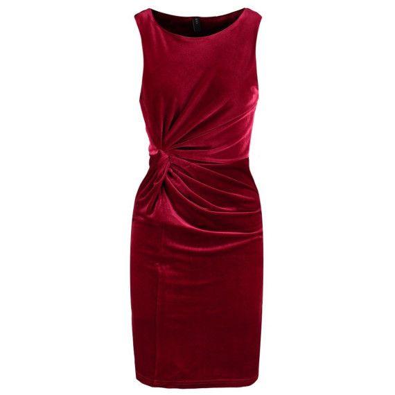 Festliches rotes Cocktailkleid im trendy Samtlook, das perfekte ...