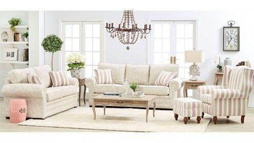 Alma 3 Seater Fabric Sofa