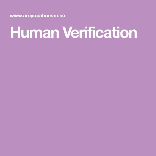 Human Verification (With Images)