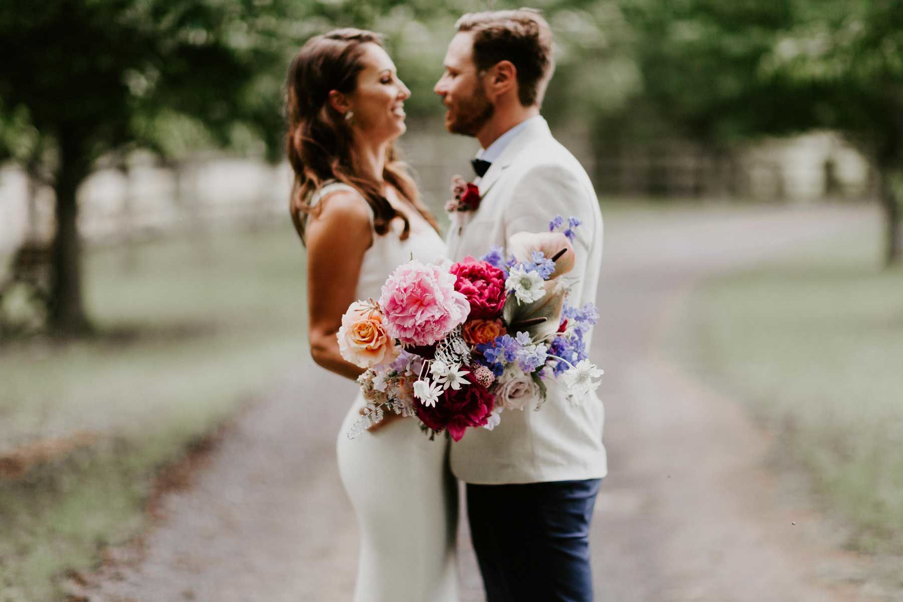 Jess & Mitch's Bloomfilled Wedding in a Community Hall