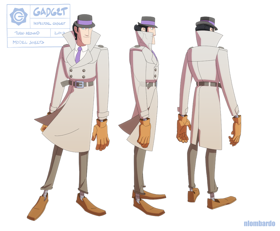 Nlombardo Ig Gadget Turn Web Png 970 800 Inspector Gadget 80s Cartoons Character Design
