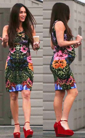 Megan Fox Proudly Shows Off Her Baby Bump