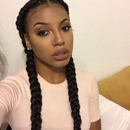 French Braids Natural Hair Styles Girls Braids Braids With Weave