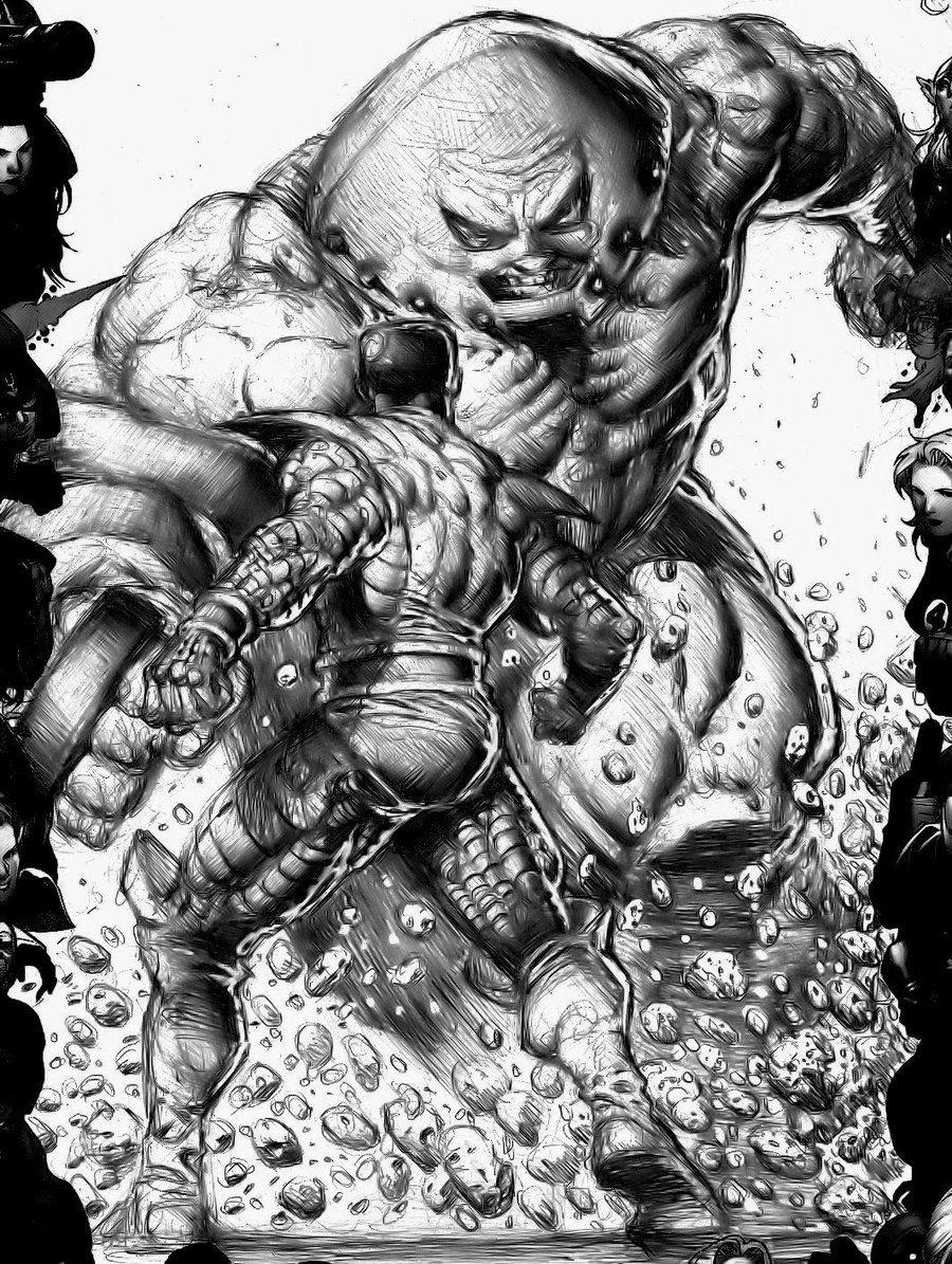 colossus vs juggernaut by danny cruz comic artwork
