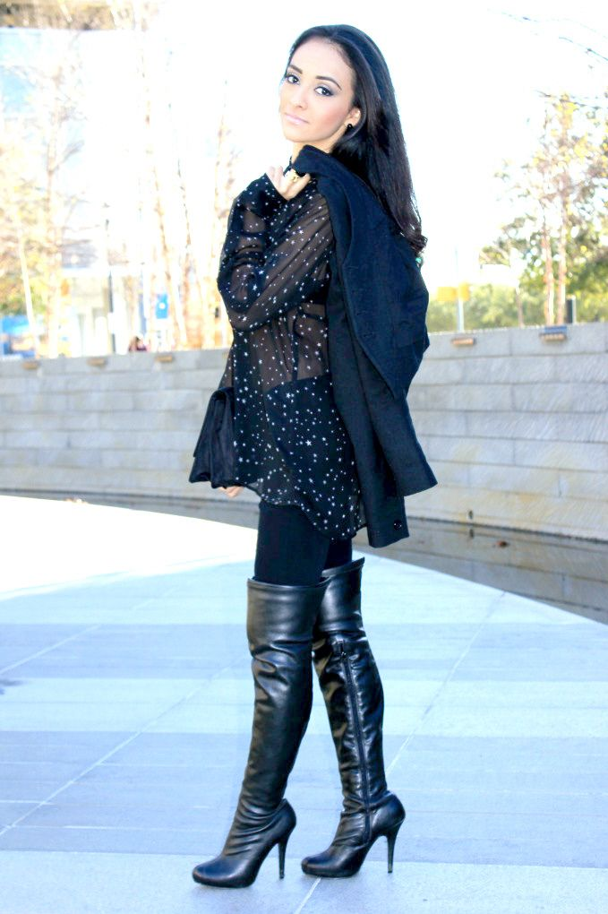 https://flic.kr/p/gtoQDk | Leather over the knee boots | See the ...