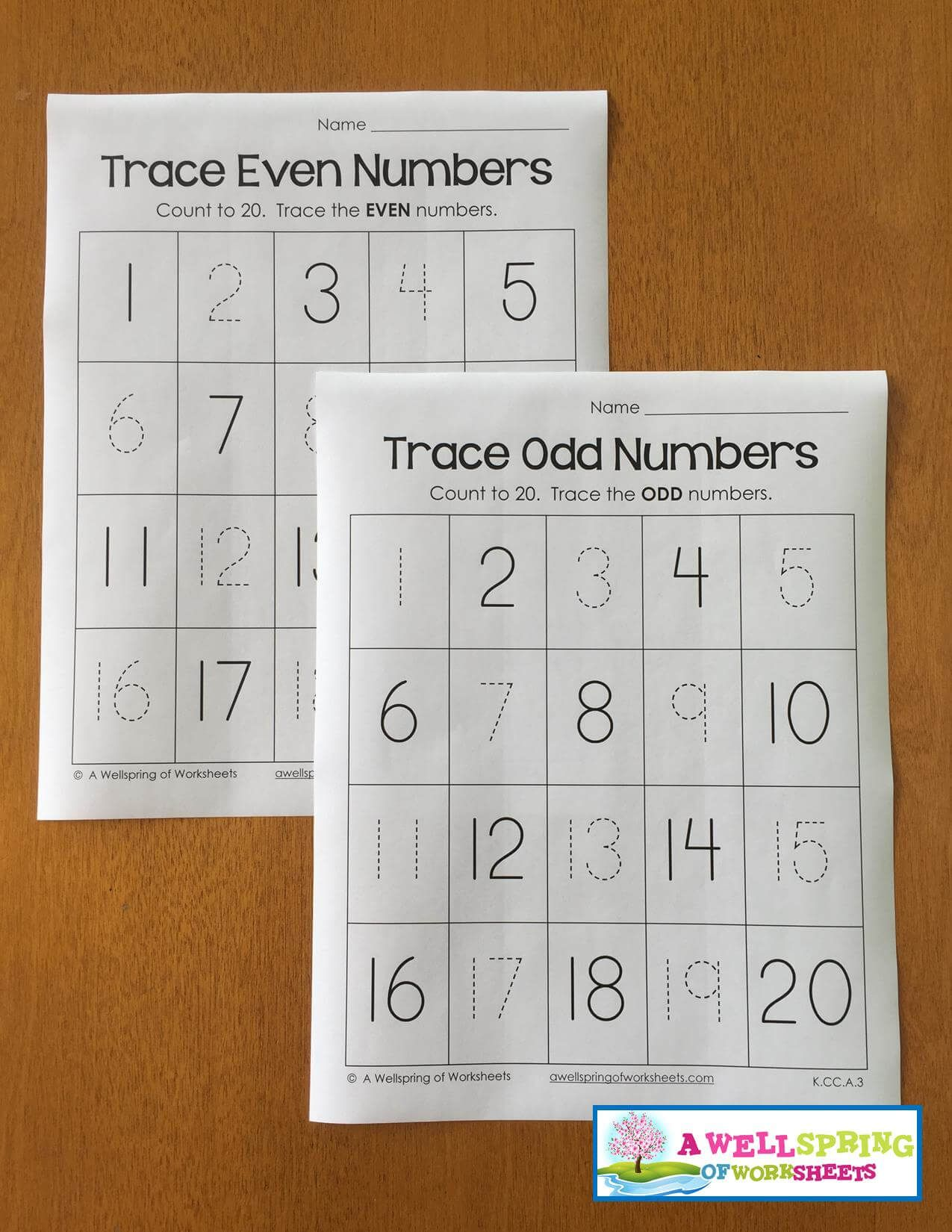 Tracing Numbers 1 20 Worksheets Blog Post A Wellspring Of Worksheets Numbers Kindergarten Counting To 20 Odd Numbers