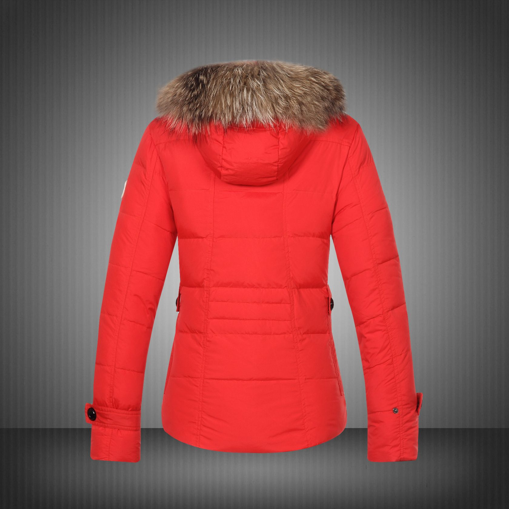 2014 Moncler Bryone Down Jacket For Women Red New Arrival