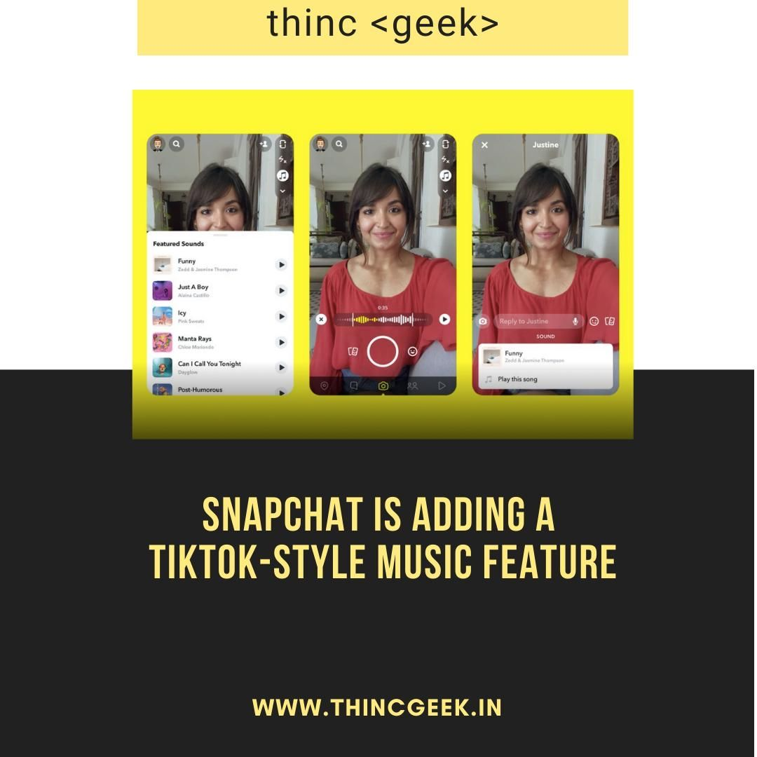 Snapchat Is Adding A Tiktok Style Music Feature Instagram Plan Music Add Music