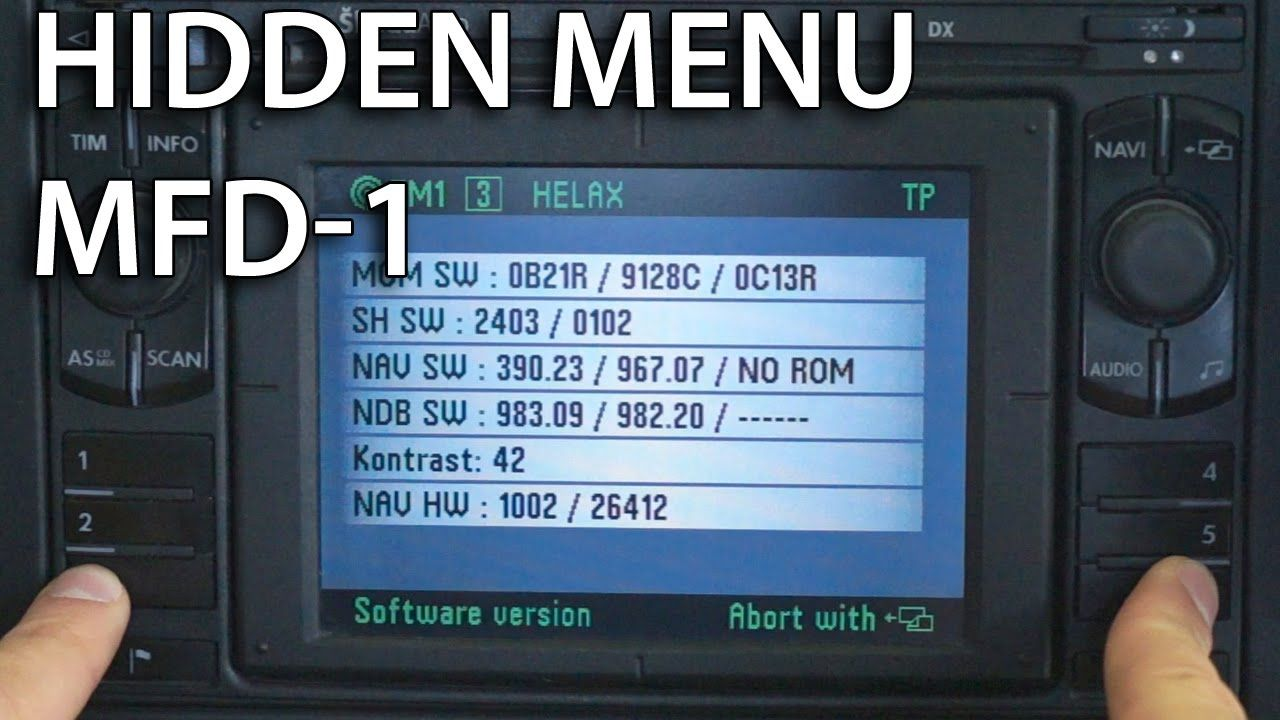 How to enter hidden service menu in MFD-1 #navigation