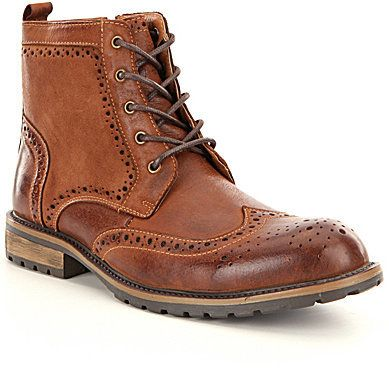 Steve Madden Men's Sprocket Classic Wing Tip Boots