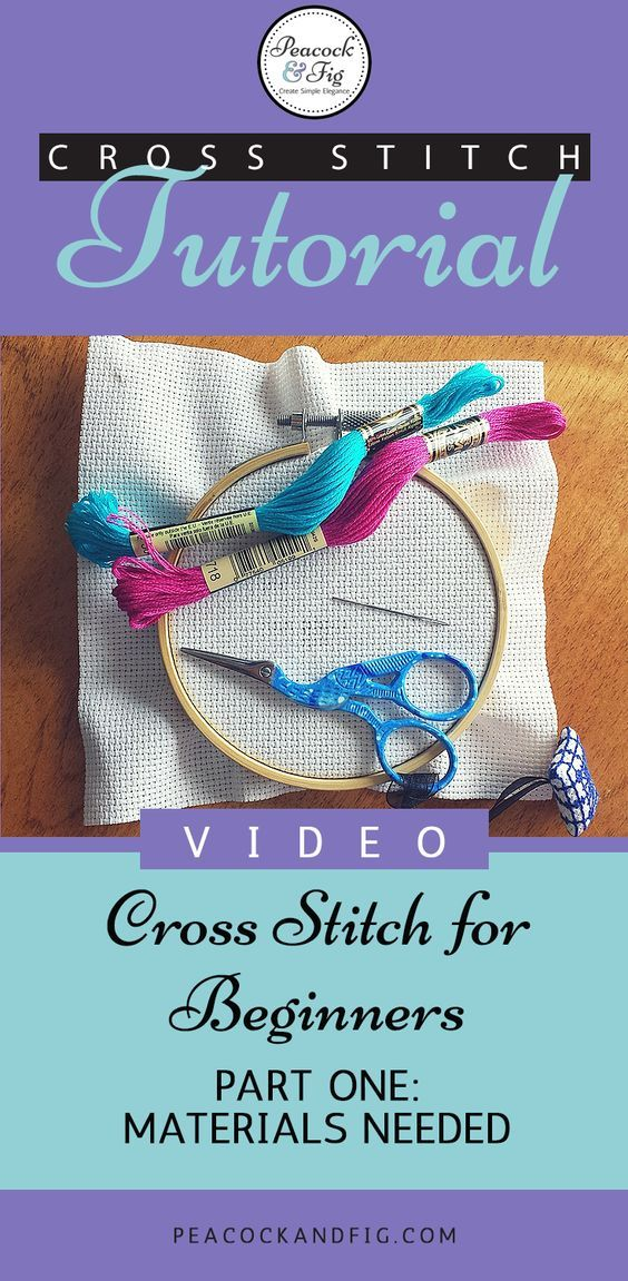 Photo of How-to cross stitch instructional videos – Peacock & Fig