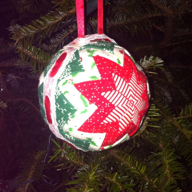 Do it yourself quilted styrofoam ball ornament   Holidays ... : quilted styrofoam ball ornament - Adamdwight.com