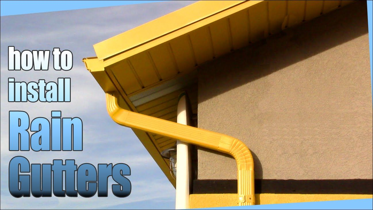If You Have Any Questions Just Ask I Will Do My Best To Answer I Am Installing Metal Gutters But Vinyl Is A Fairly How To Install Gutters Diy Gutters Gutters