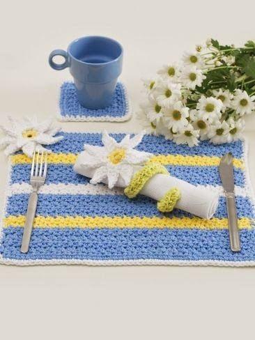 Rosa acessórios em tricô & crochê: Crochê na mesa   cozinha   Pinterest