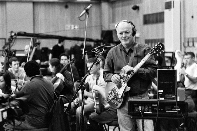 David Gilmour Recording Session With Orchestra David Gilmour