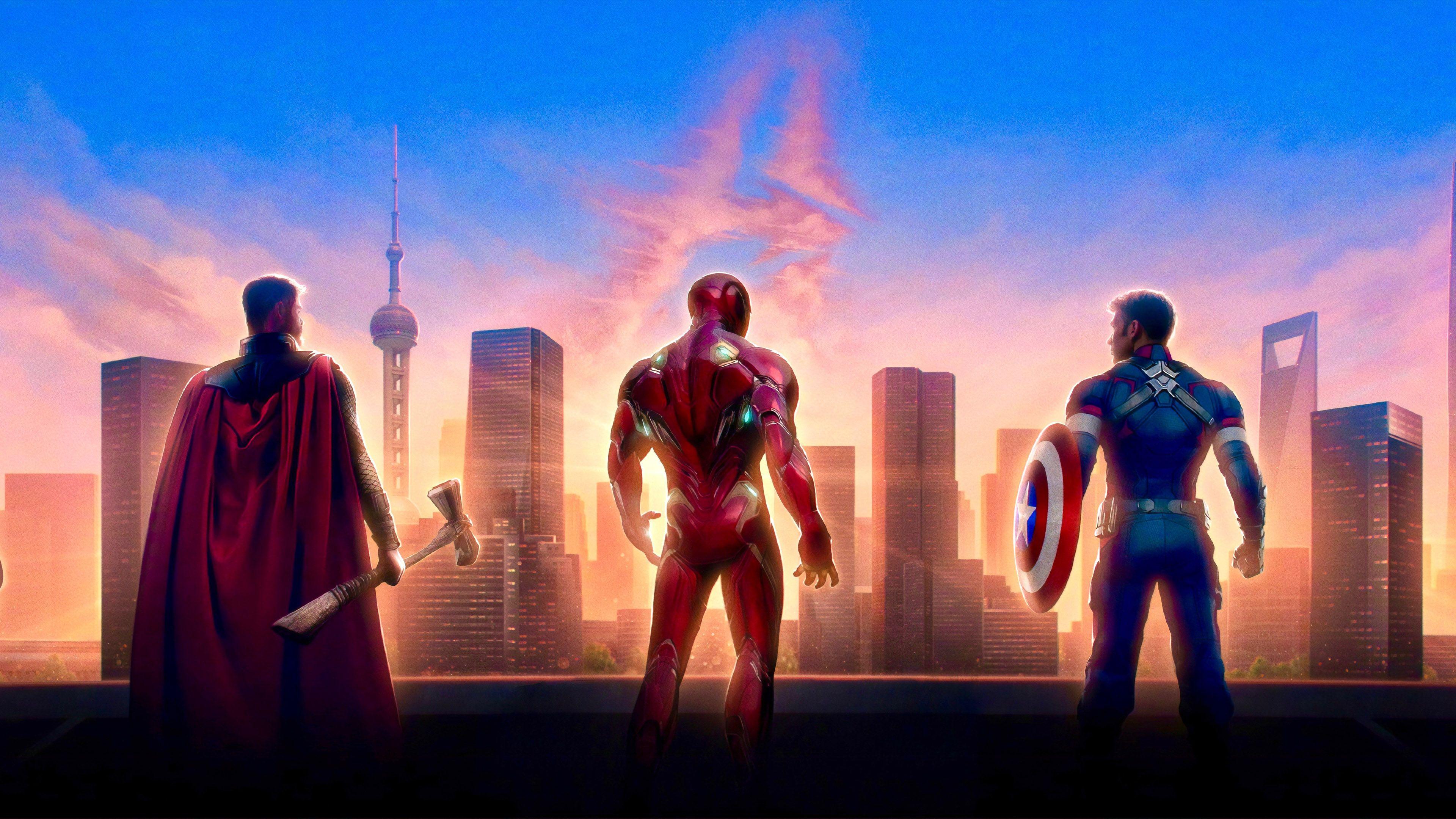 Avengers Endgame Captain America Iron Man And Thor 4k