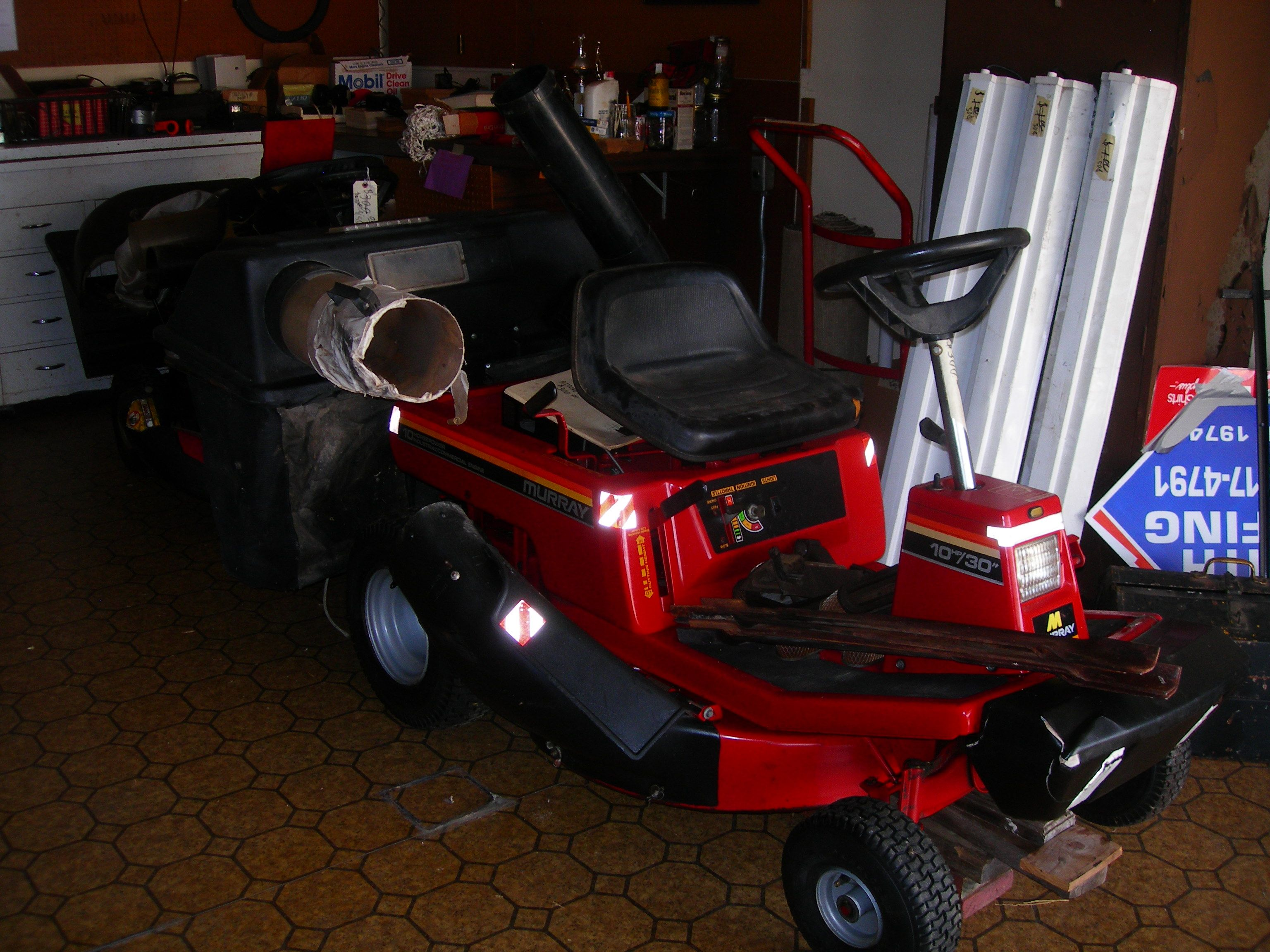 Riding Lawn Mower In Blc2beans Garage Sale North Richland Hills Tx Murray Tractor Wiring Harness For 30000 30 10 Hp Tecumseh Engine With A Grass