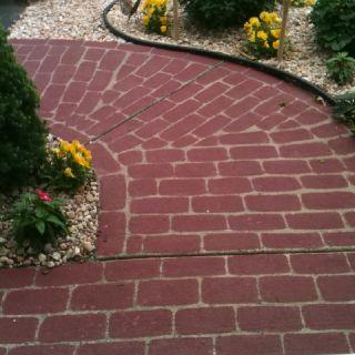 diy painted brick walkway i would do