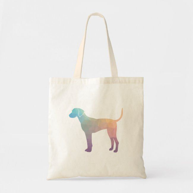 Plott Hound Geometric Pattern Silhouette Pastel Tote Bag   Zazzle.com