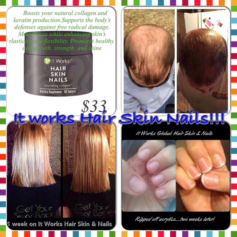 It Works Hair Skin Nails!! Have you been trying to grow out your hair